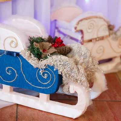 Winter blue photo session decor