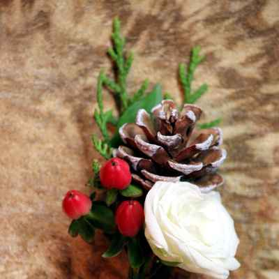 Rustic brown buttonhole