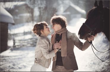 Winter brown real weddings