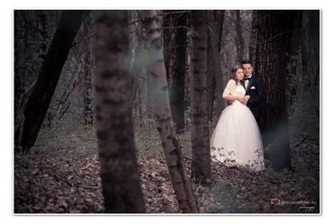 Outdoor autumn real weddings