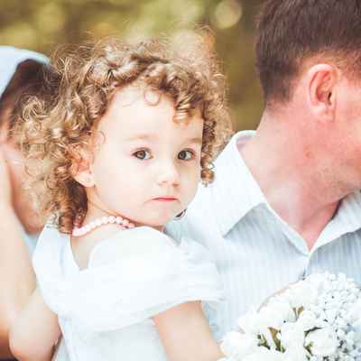 Summer white kids at wedding