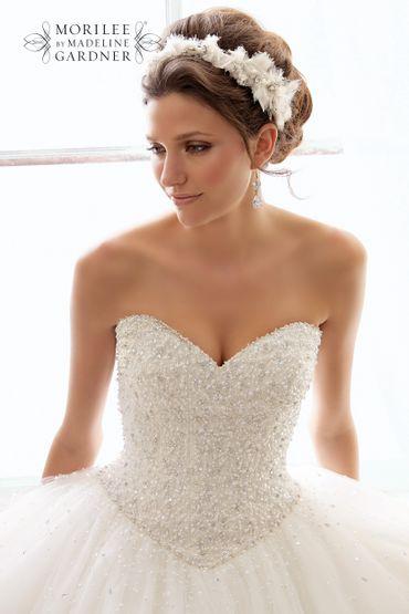 White ball gown wedding dresses