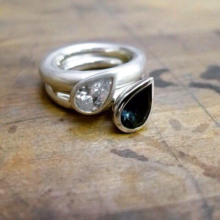Women's handmade wedding rings