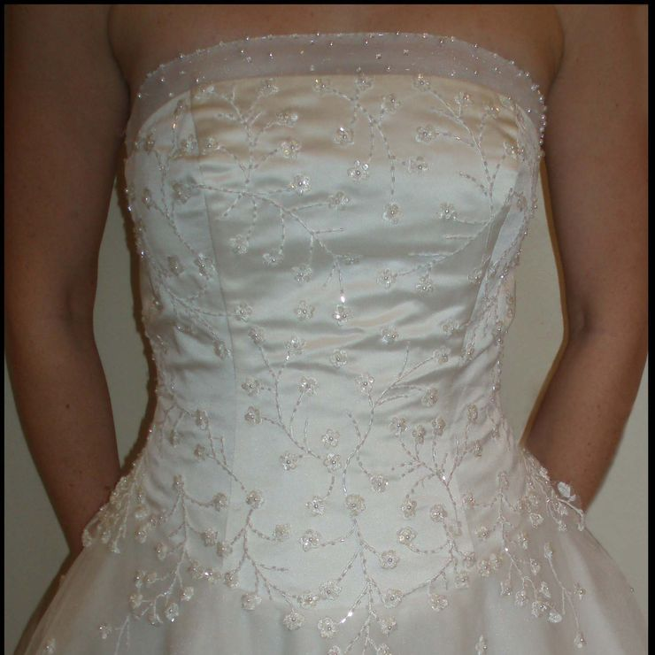 Beaded Wedding Dress (front and back)