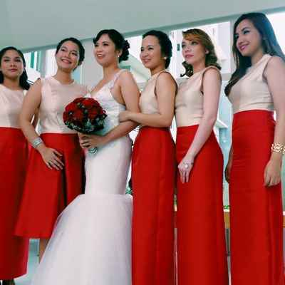White bridesmaids