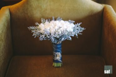 White tulip wedding bouquet