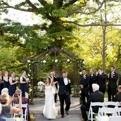 Black wedding ceremony decor