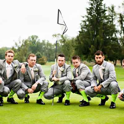 Outdoor summer grey groom style