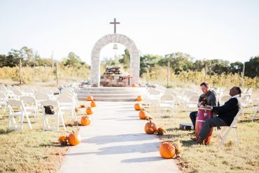 Autumn wedding ceremony decor