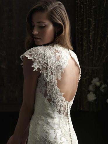 Ivory lace wedding dresses