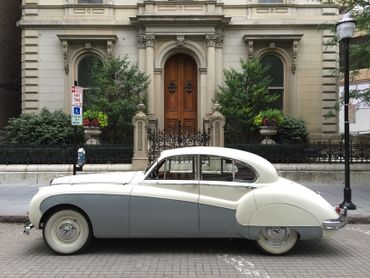Vintage grey wedding transport