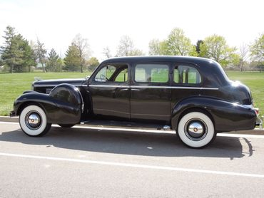 Vintage black wedding transport