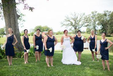 Black bridesmaids
