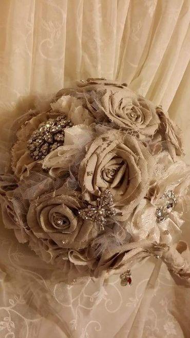 Brown alternative wedding bouquet