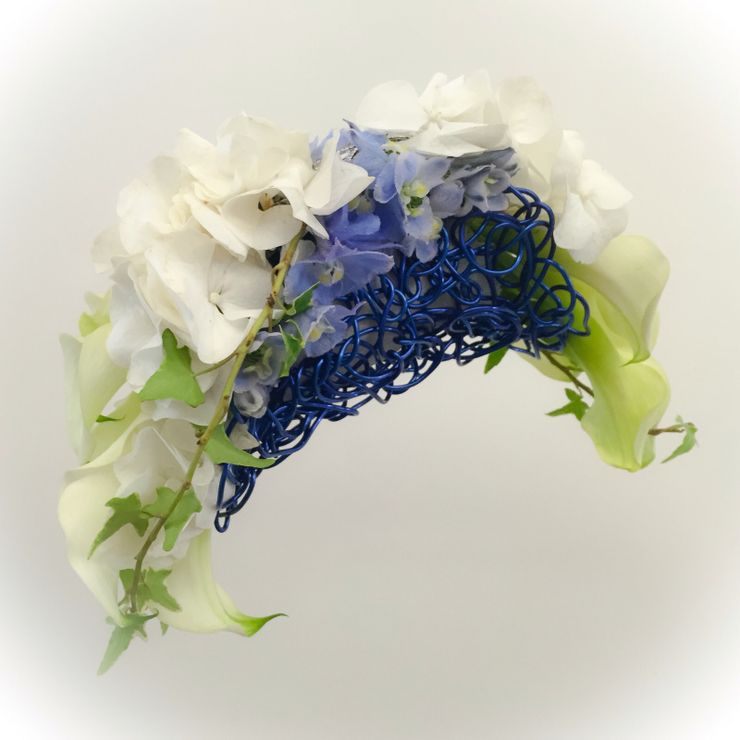 Metallic Blue Arrangement