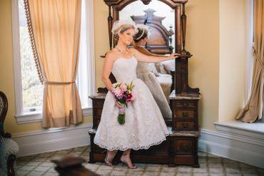 Overseas white short wedding dresses