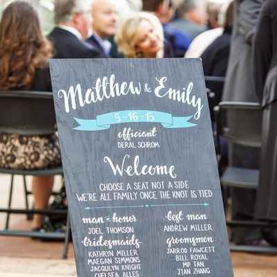 Outdoor grey wedding ceremony decor