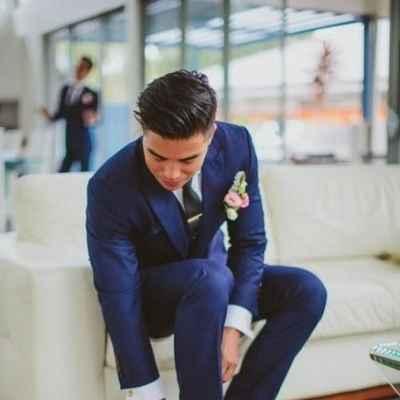 Overseas blue groom style