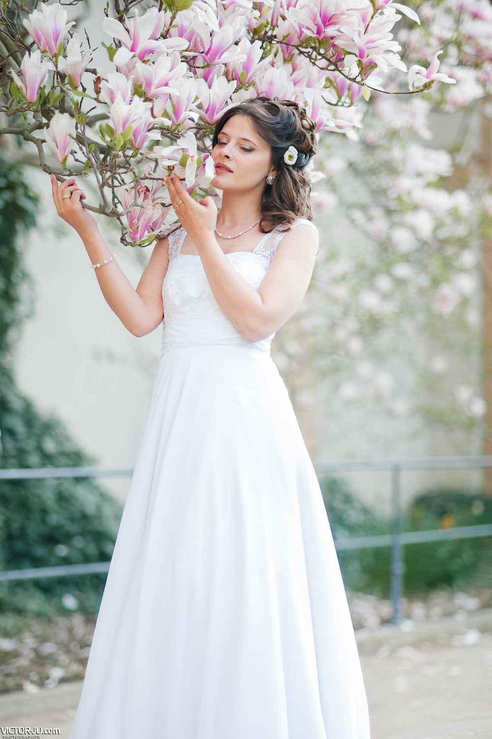 Spring long wedding dresses