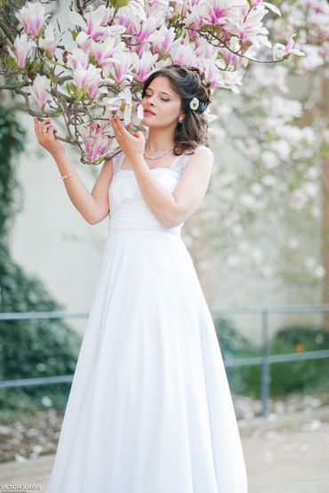 Spring long wedding dresses
