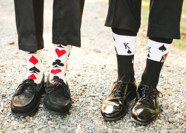 Black wedding shoes