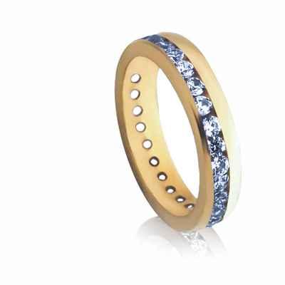 Blue wedding rings