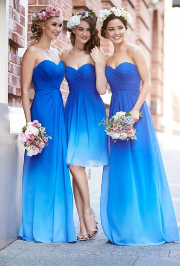 Outdoor blue wedding photo session ideas