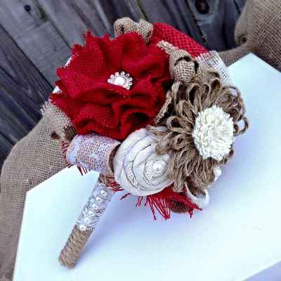 Brown alternative wedding bouquet