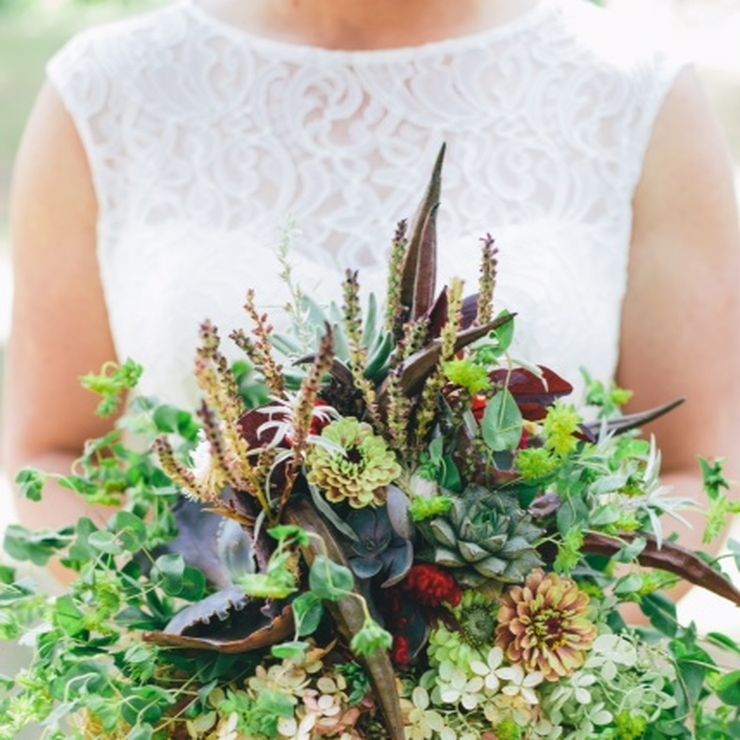 Carly and Joel: September Wedding: organic, island, Midwest