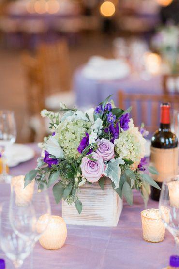 Overseas purple wedding floral decor