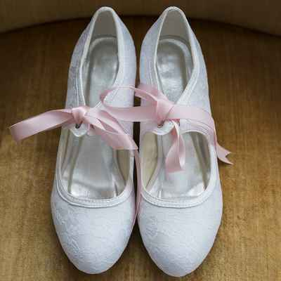 White wedding shoes