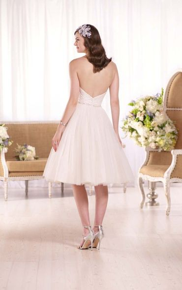 Ivory short wedding dresses