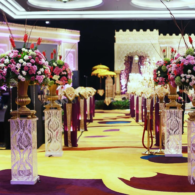 Padang Wedding Decoration of Nova & Faizal, Raffles Hotel, Jakarta