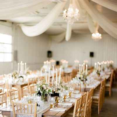 Overseas brown wedding reception decor