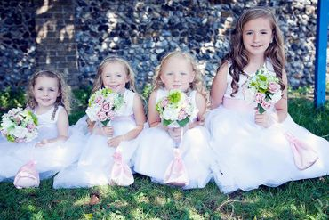 White kids at wedding