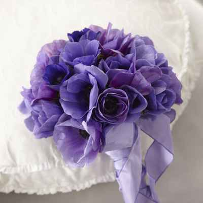 Anemone wedding bouquet