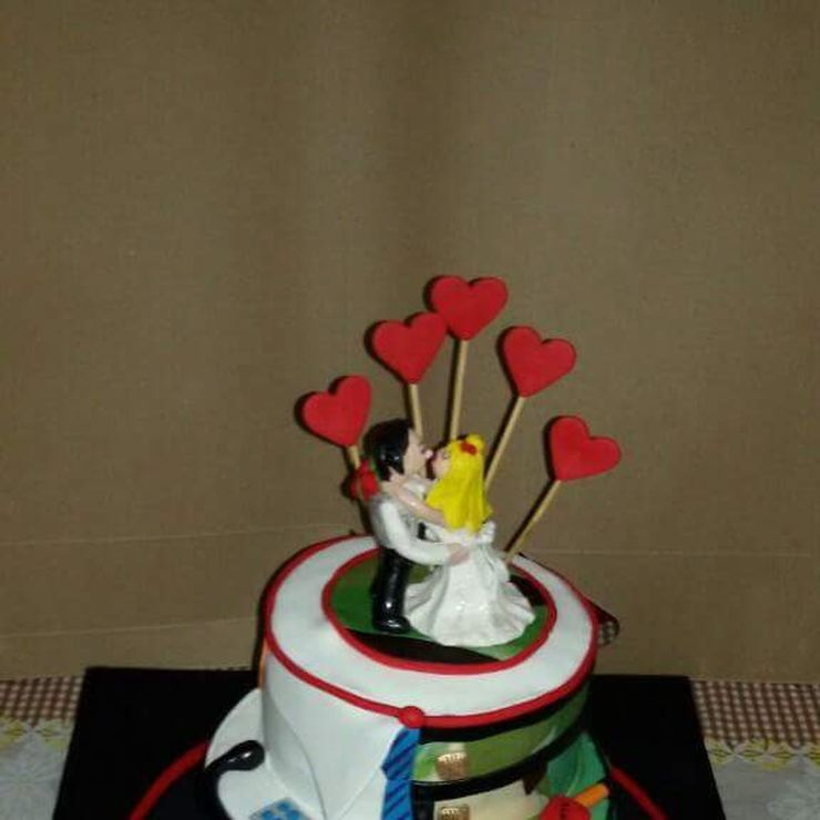 Cake for a doctor groom n defence services bride