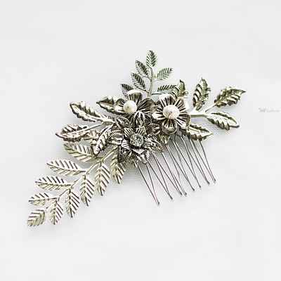Grey wedding headpieces, veils, cover-ups & brooches