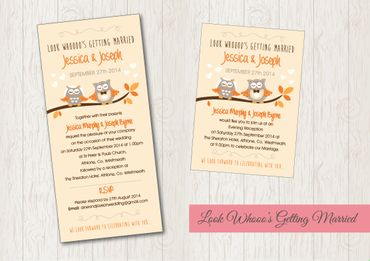 Yellow wedding invitations