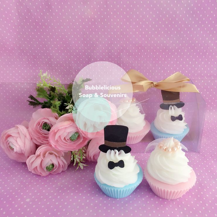 Bride & Groom Cupcake Soap