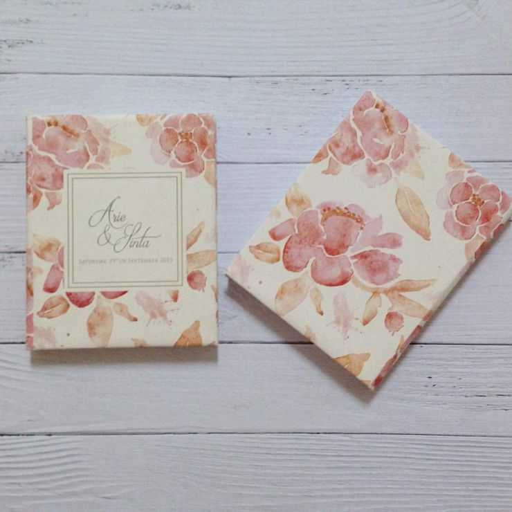 "Arie & Sinta "" Watercolour - card & memopad souvenir """