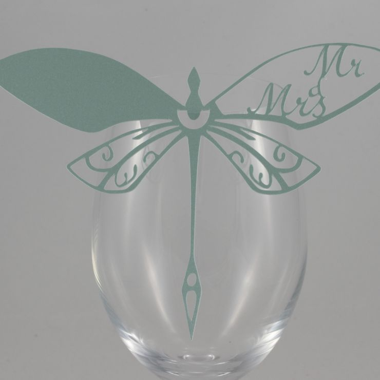 Stunning Glass Perching Place Cards