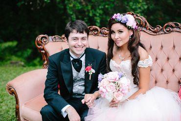 Outdoor black bridal hair and make-up