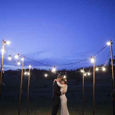 Outdoor white long wedding dresses