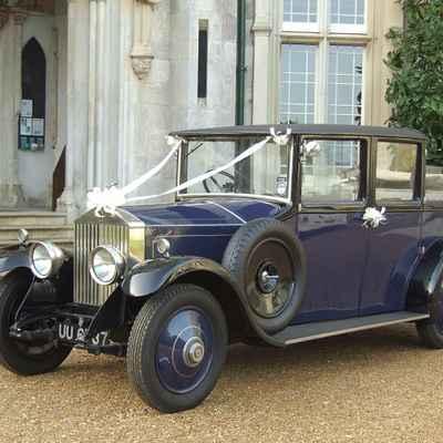 Blue wedding transport