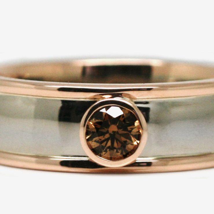 Handmade engagement and wedding rings