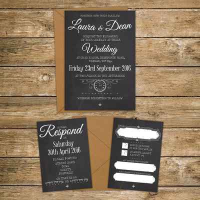 Brown wedding invitations