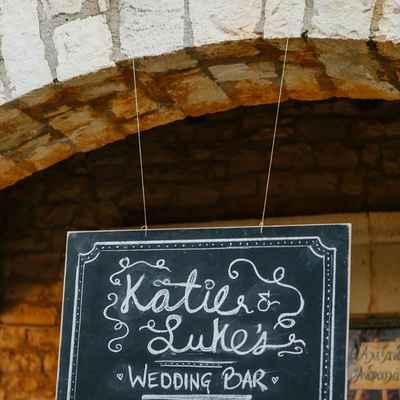 Outdoor black wedding reception decor