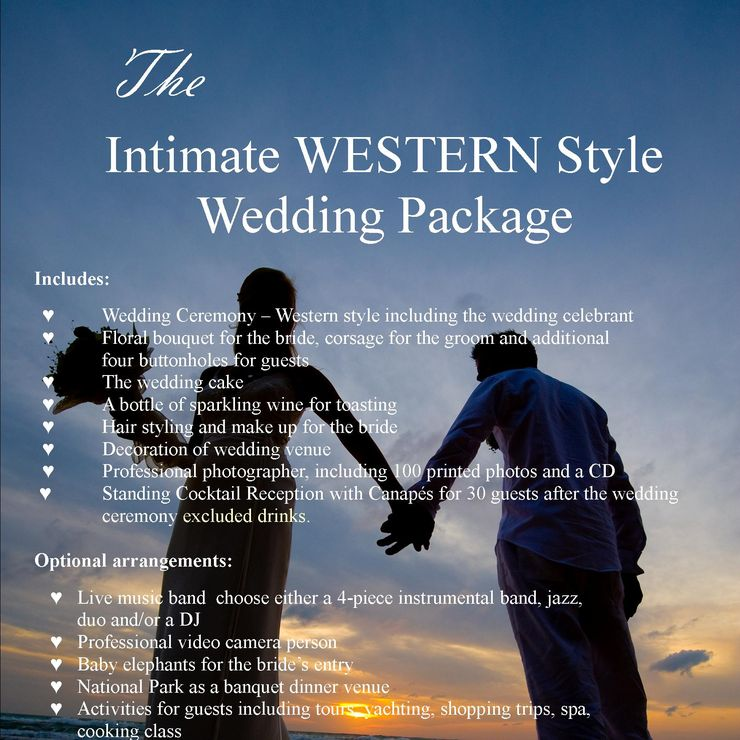 Package for Beach Wedding