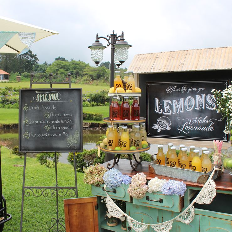 Lemonade station for wedding
